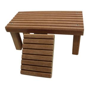Flaches Mini Holzlandteil für Babys